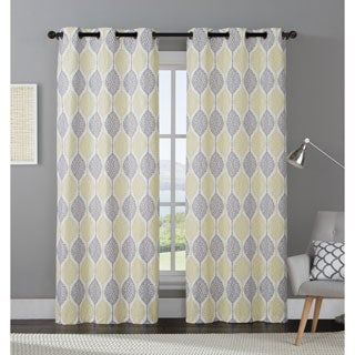 OVERSTOCK EXCLUSIVE VCNY Organic Leaf Curtain Panel Pair