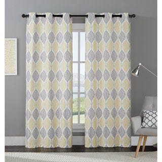 OVERSTOCK EXCLUSIVE VCNY Organic Leaf Blackout Curtain Panel Pair