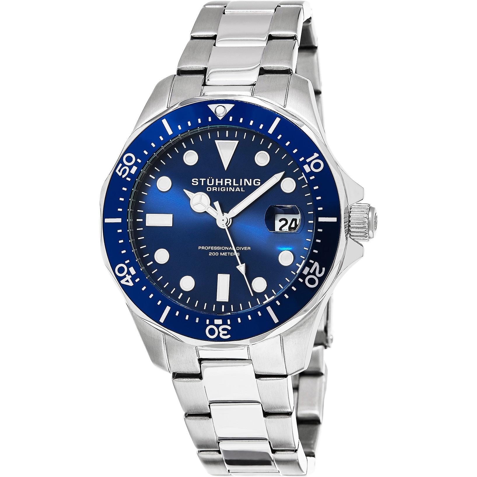 Stuhrling Regatta Divers Men's Bracelet Watch