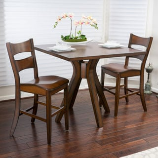 Tehama 3-piece Square Counter Height Wood Bistro Set by Christopher Knight Home