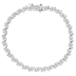 Sterling Silver 1ct TDW Rose-cut Diamond Bracelet (I-J, I2-I3)