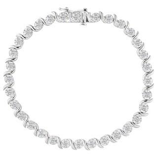 Sterling Silver 1ct TDW Rose-cut Diamond Bracelet (I-J, I2-I3)