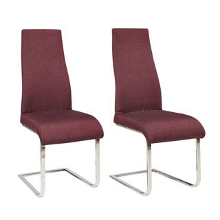 Scandinavian Lifestyle Marcello Upholstered Fabric Chrome Dining Chair (Pack of 2)