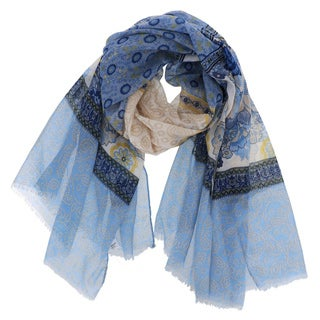 Woven Floral Print Scarf