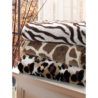 Brielle Safari Faux Fur Reversible Throw