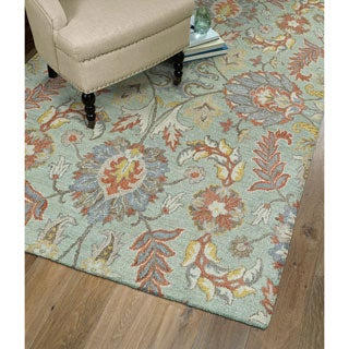 Christopher Agra Mint Hand-Tufted Rug (8'0 x 10'0)