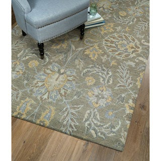 Christopher Agra Sage Hand-Tufted Rug (2'6 x 8'0)