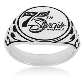 Sterling Silver 75th Sturgis Rally Ring