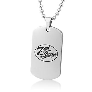 Stainless Steel 75th Sturgis Rally Dog Tag - Silver