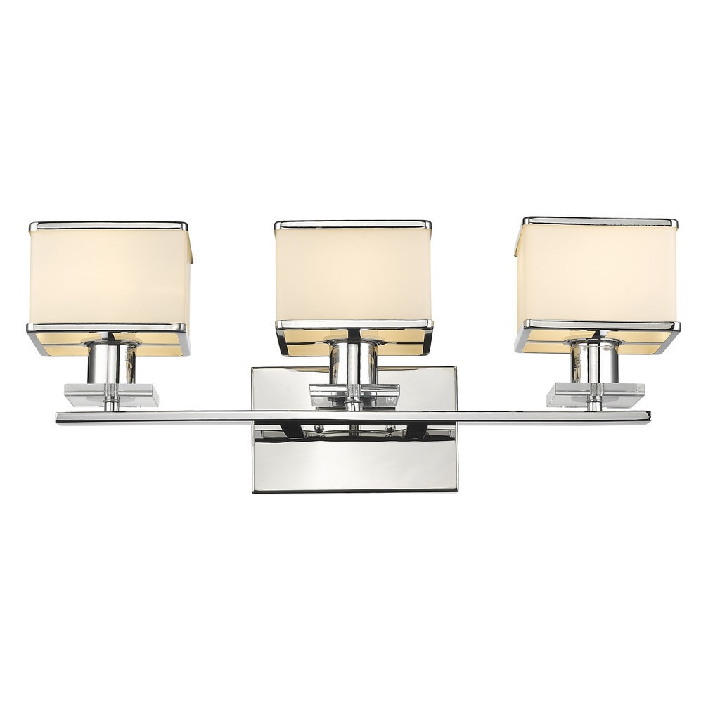 lights for bathroom vanity shop contemporary 3 light chrome bath vanity light 19293