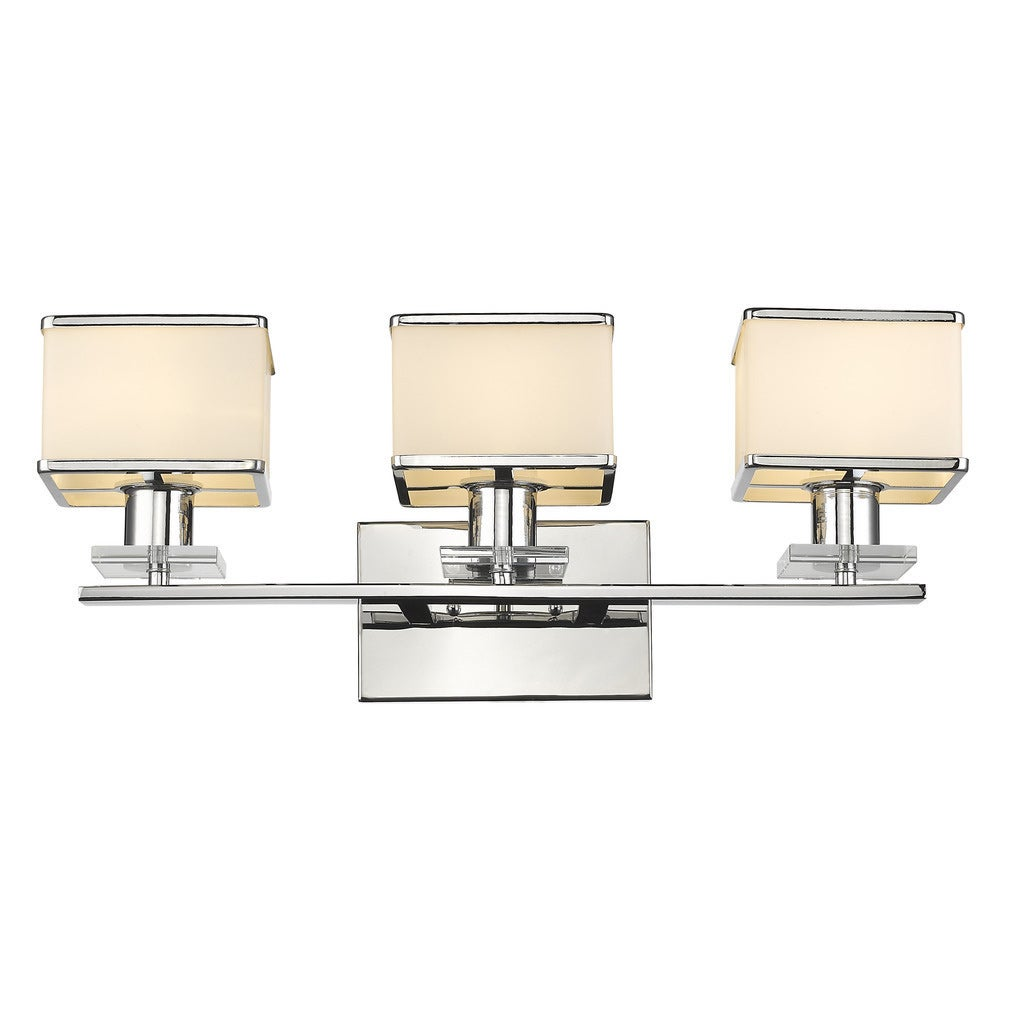 Bathroom Vanity Lighting Concept For Modern Houses: Shop Chloe Contemporary 3-light Chrome Bath/ Vanity Light