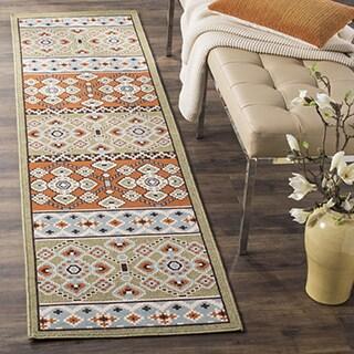 Safavieh Indoor/ Outdoor Veranda Green/ Terracotta Rug (2'3 x 8')