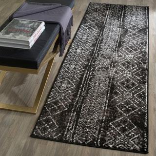 Safavieh Adirondack Vintage Boho Black/ Silver Rug (2'6 x 8')