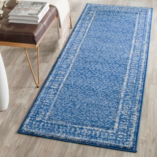 Safavieh Adirondack Vintage Light Blue/ Dark Blue Rug (2'6 x 6')