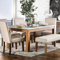 Furniture of America Aralla II Industrial Style Dining Table