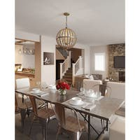 Capital Lighting Donny Osmond Lowell Collection 4-light Tuscan Bronze Pendant