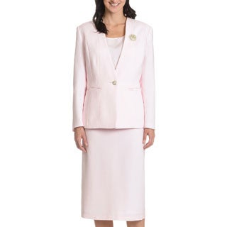 Giovanna Signature Women's Solid 3-piece Skirt Suit