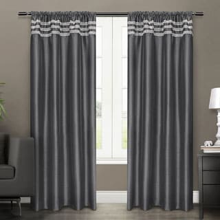 ATI Home Bling Rod Pocket 96-inch Curtain Panel Pair