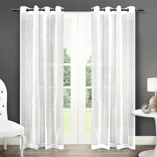 ATI Home Sabrina Grommet Top Sheer Curtain Panel Pair