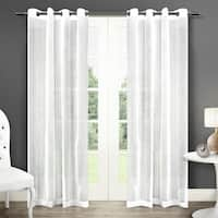 ATI Home Sabrina Grommet Top Sheer Curtain Panel Pair