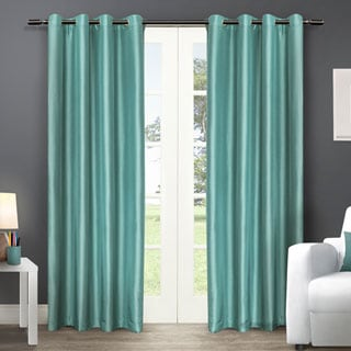 ATI Home Chatra Faux Silk Grommet Top Curtain 96 - 108-inch Length Panel Pair