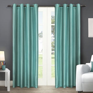ATI Home Chatra Faux Silk Grommet Top Curtain Panel Pair