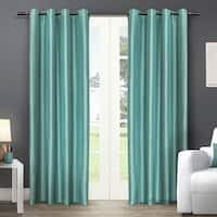 ATI Home Chatra Faux Silk Grommet Top Panel Curtains - N/A
