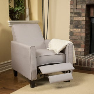 Darvis Wheat Fabric Recliner Club Chair by Christopher Knight Home