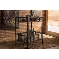 Carbon Loft Fred Industrial Dark Brown Cart