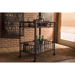 Pine Canopy Rue Industrial Dark Brown Cart