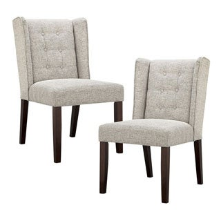 Madison Park Zoe Light Grey Dining Chair (Set of 2)