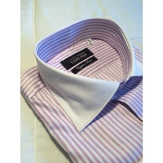 Teri Jon Pour Monsieur Men's Lavender Stripe Egyptian Cotton Dress Shirt