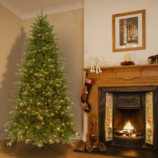 7.5 foot Pre-lit Deluxe Artificial Christmas Tree with Memory Wire