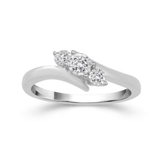 Sterling Silver 1/8ct TDW Diamond Ring