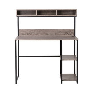 Laptop Desk with Hutch in Natural Reclaimed Wood