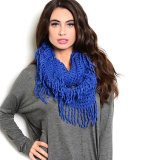 Shop the Trends Women's Chunky Knit Infinity Scarf With Soft Fringe Trim