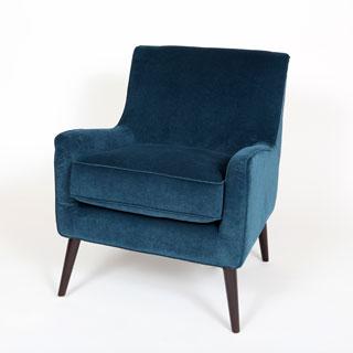 Porter Kristina Ocean Blue Accent Chair