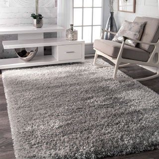 nuLOOM Soft and Plush Solid Thick Shag Grey Rug (7'10 x 10')