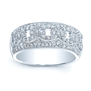 14k White Gold 5/8ct TDW Round Diamond Band (H-I, SI1-SI2) (Size 7)