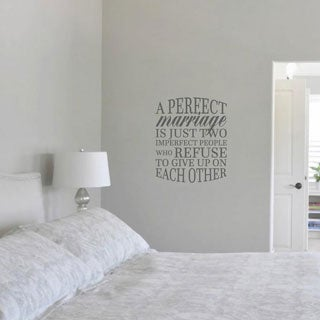 "A Perfect Marriage Quote Wall Decal - (20"" x 24"" )"