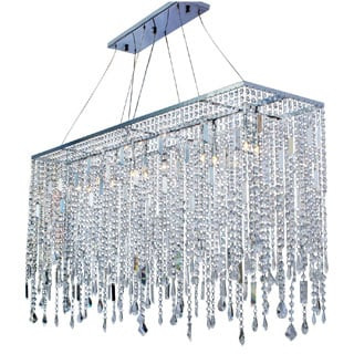 Naples 48 Inch Chrome Crystal Chandelier