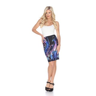 White Mark Women's Pretty and Proper Print Pencil Skirt (4 options available)