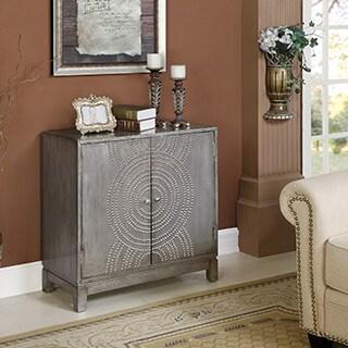 Somette Weathered Grey 2-Door Cabinet