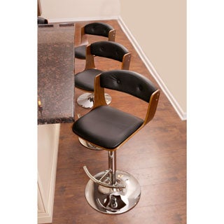 Scucci Mid-century Modern Adjustable Wood Barstool