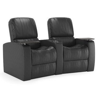 Octane Blaze XL900 Seats Curved/ Manual Recline/ Black Premium Leather Home Theater Seating (Row of 2)