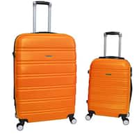World Traveler Bristol 2-piece Lightweight Expandable Spinner Luggage Set