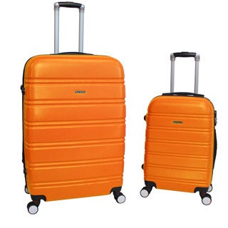 World Traveler Bristol 2-piece Lightweight Expandable Spinner Luggage Set (4 options available)