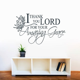 I Thank You Lord, Amazing Grace' 48 x 28-inch Wall Decal