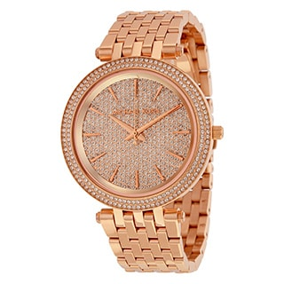 Michael Kors Women's MK3439 Darci Crystal Pave Dial Rose-Tone Gold Stainless Steel Bracelet Watch