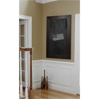 American Made Rayne Wide Brown Leather Blackboard/Chalkboard